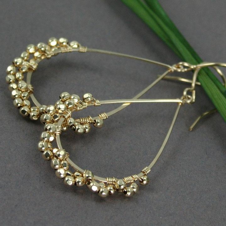 5ce158d74 Gold Scalloped Teardrop Earrings » Gosia Meyer Jewelry