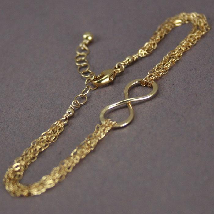 Multistrand Gold Infinity Bracelet 187 Gosia Meyer Jewelry