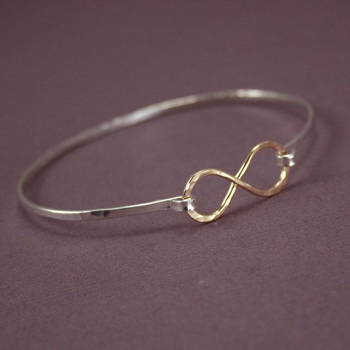 Two Tone Infinity Bracelet, Bangle » Gosia Meyer Jewelry