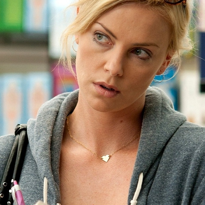 Gold Heart Necklace Charlize Theron Replica Young Adult