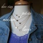 discs sizes double layered initial necklace