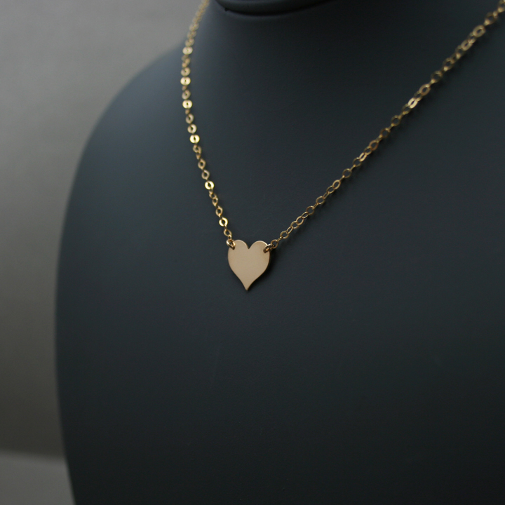 Gold Heart Necklace, Charlize Theron Replica Young Adult Necklace ...