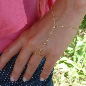 gold filled beaded bracelet main