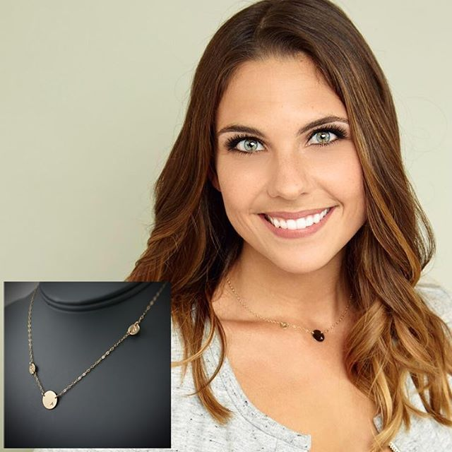 Gorgeous alifreeman is wearing asymmetrical  off center initial necklacehellip