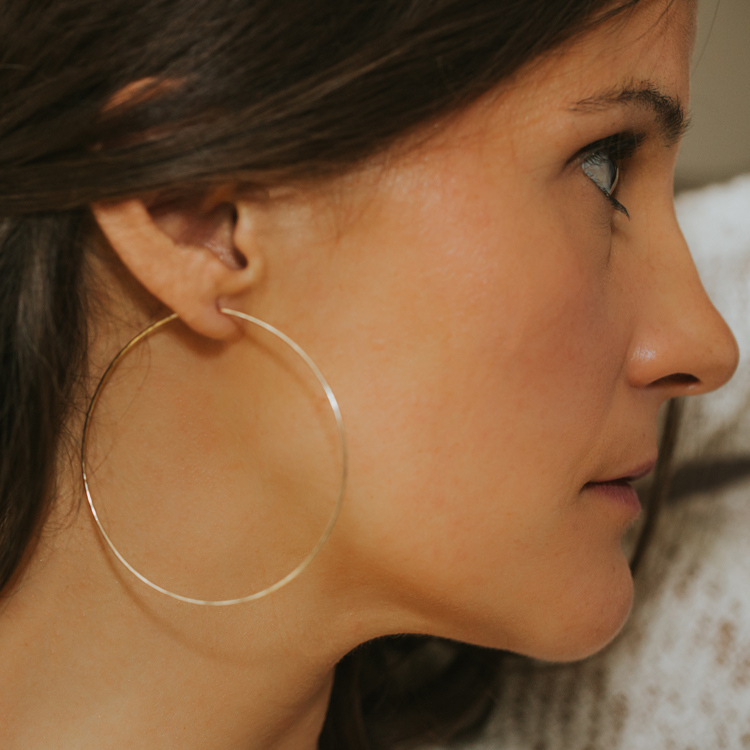 Cly Hoops Earrings Skinny Hammered