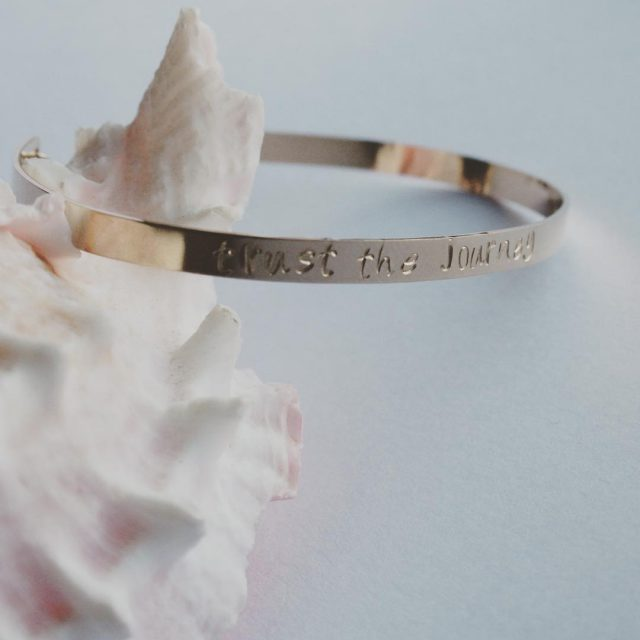 Will be listing for sale this personalized bangle bracelet soonhellip