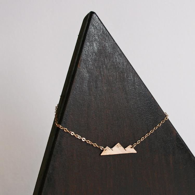 Mountain Necklace Dainty Mountain Pendant 187 Gosia Meyer