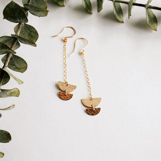 half moon earrings coming soon to the shop! goldenmoon