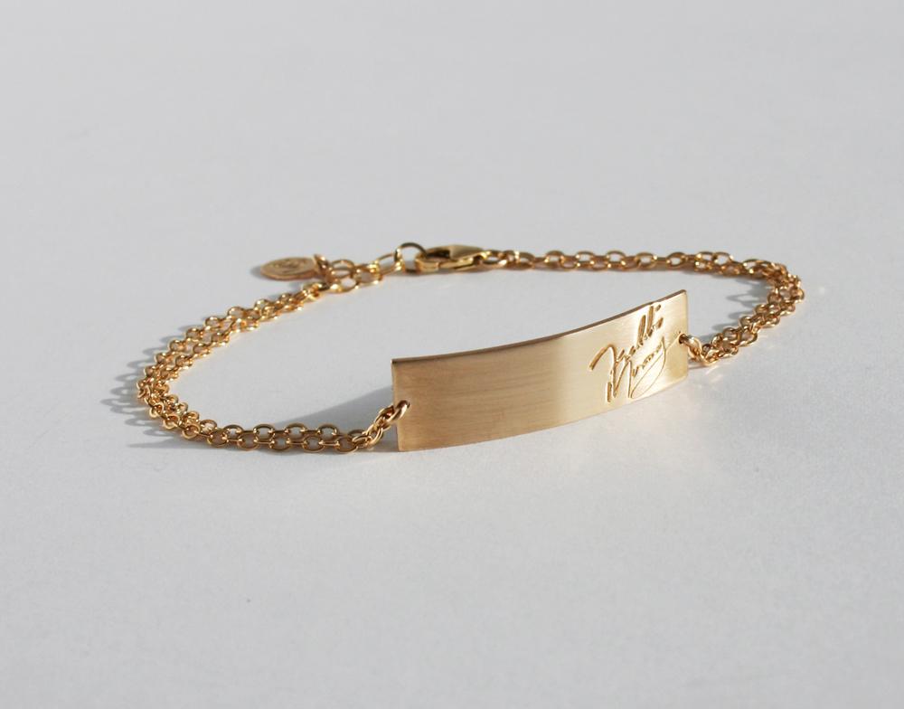 Freddie Mercury Signature Bar Bracelet 187 Gosia Meyer Jewelry