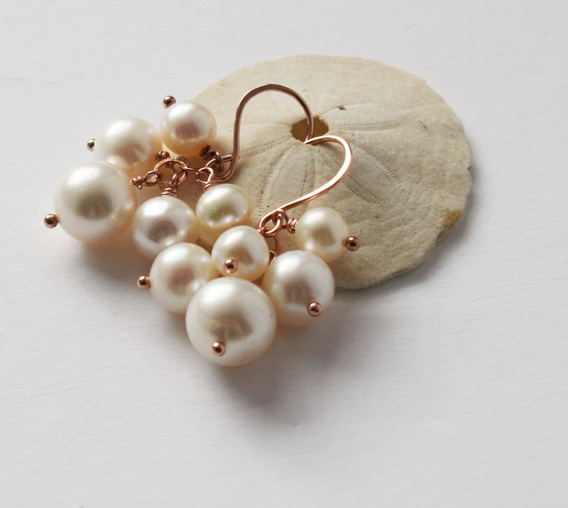 2c843cece Freshwater Pearl Cluster Earrings » Gosia Meyer Jewelry