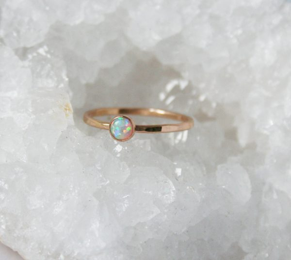 white opal stacking ring gosia meyer jewelry. Black Bedroom Furniture Sets. Home Design Ideas