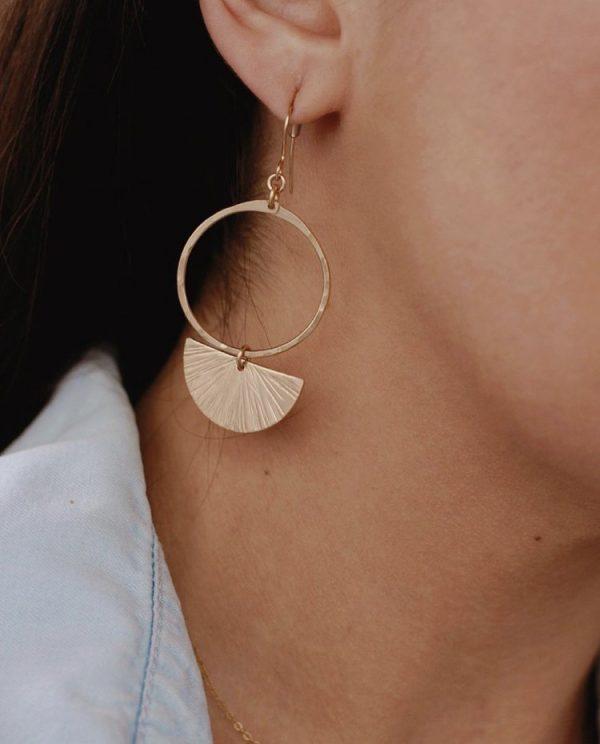 Sunburst Hoop Earrings
