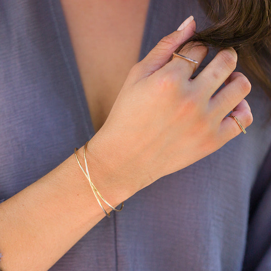 Double Wrap Skinny Bangle