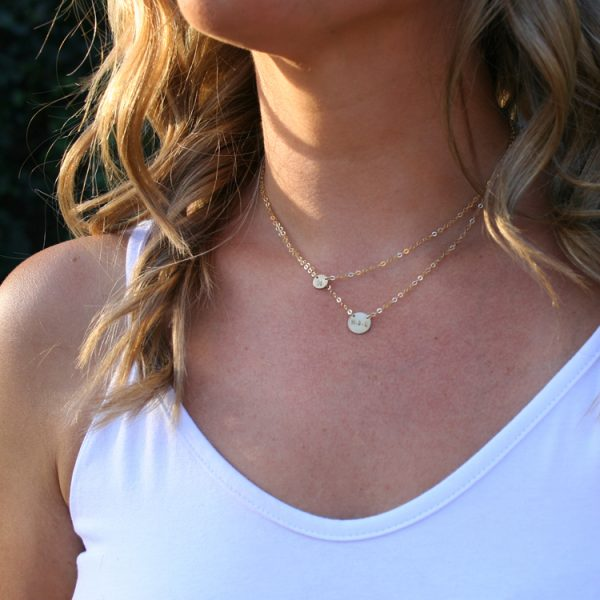 Multi-Strand Initial Necklace On Model